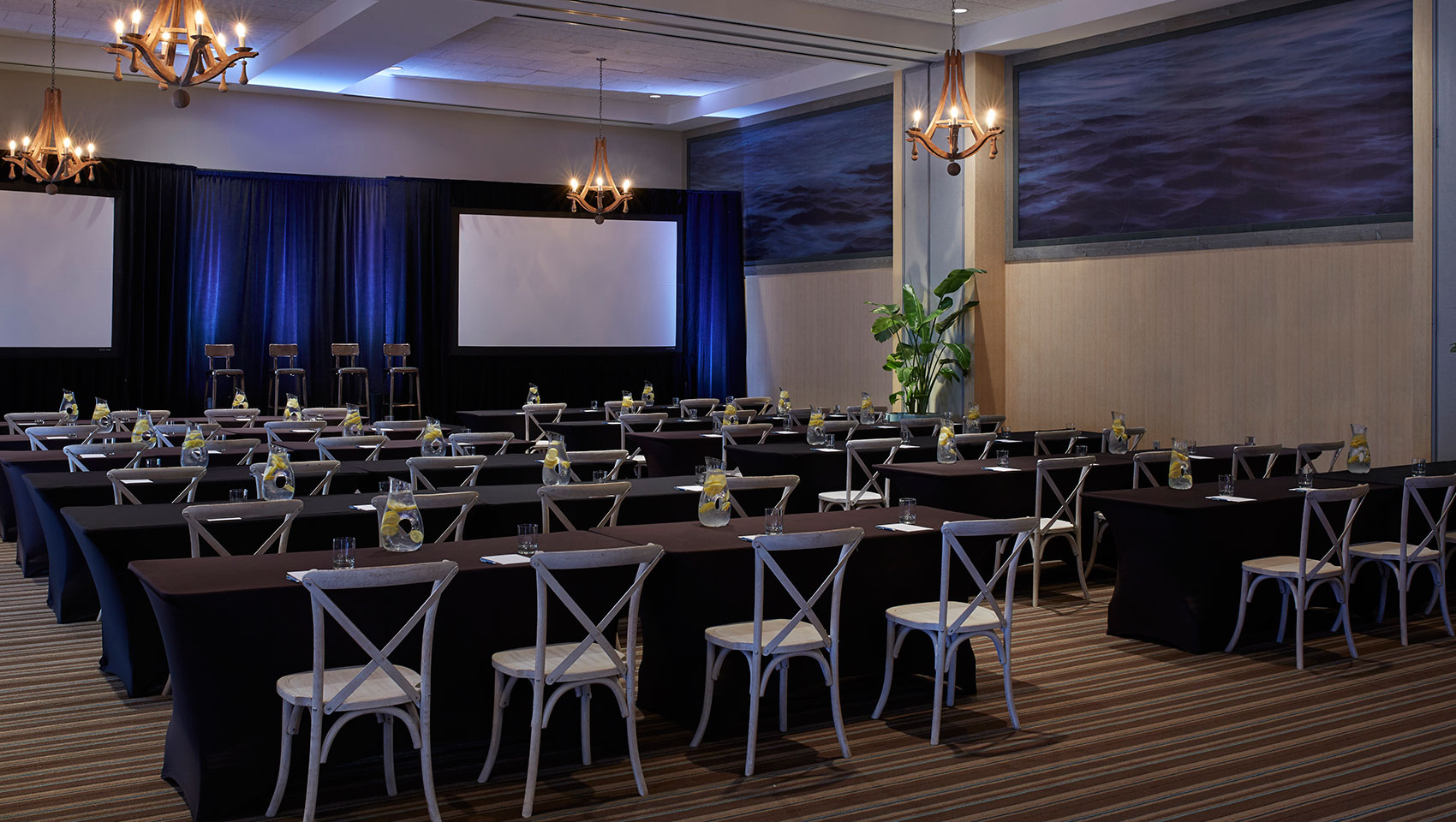 large meeting room at the Kimpton Shorebreak Resort