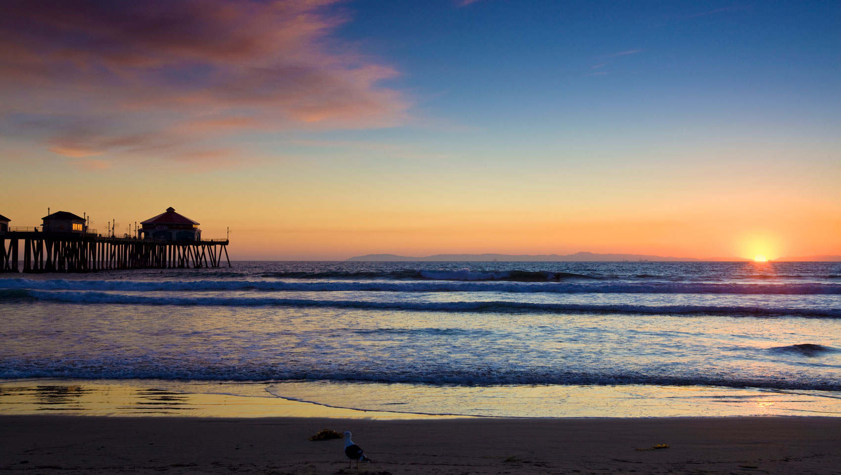 Huntington Beach at Sunset