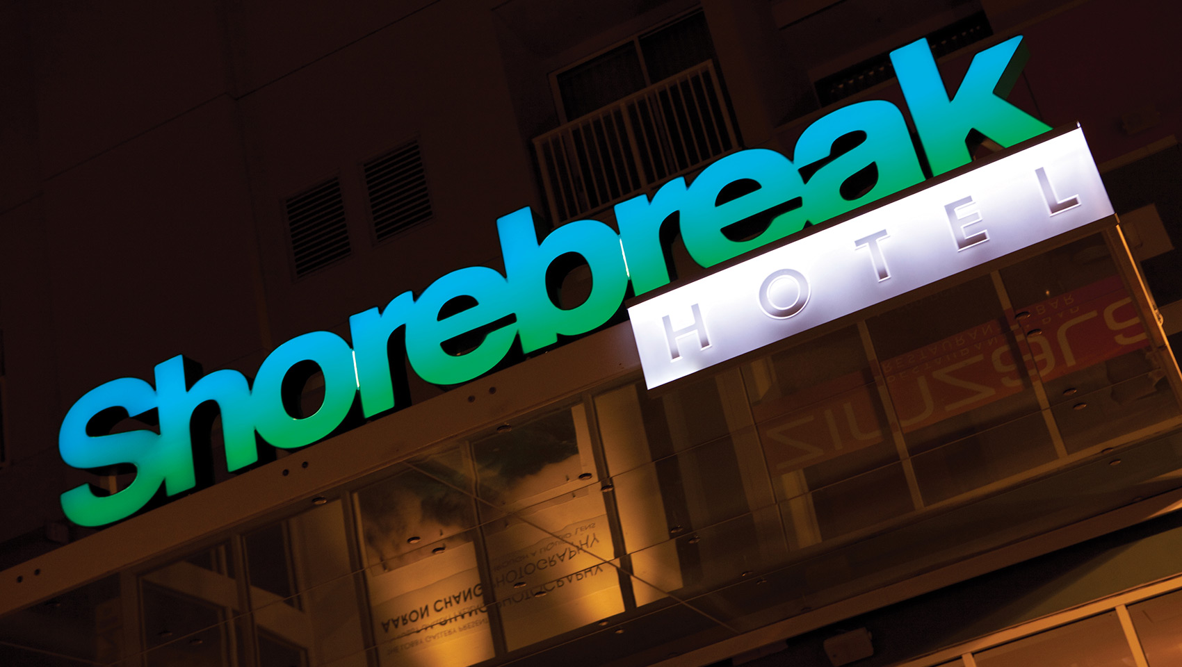shorebreak hotel sign at night